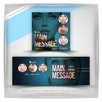 Cosmetica facebook & instagram banner