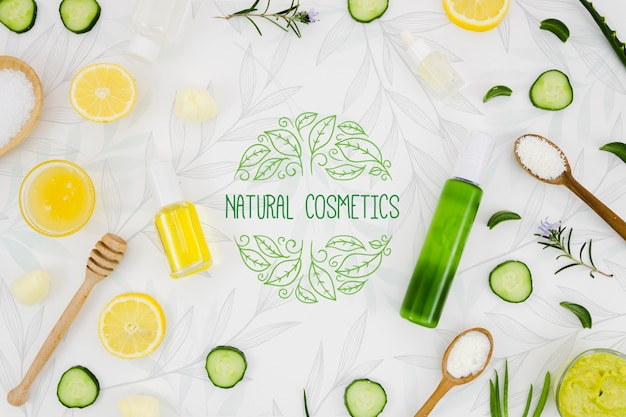 Cosmética natural con vitaminas.