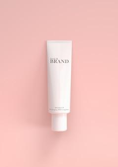 Cosmetica premium per la cura della pelle idratante sul rosa