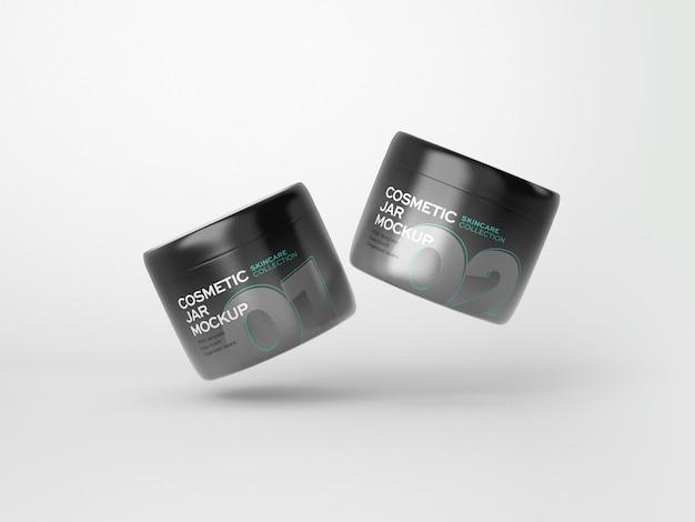 Cosmetica tube en jar mockup
