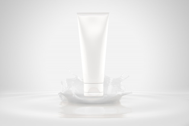 Cosmetica verpakking mockup splash lotion huidverzorging