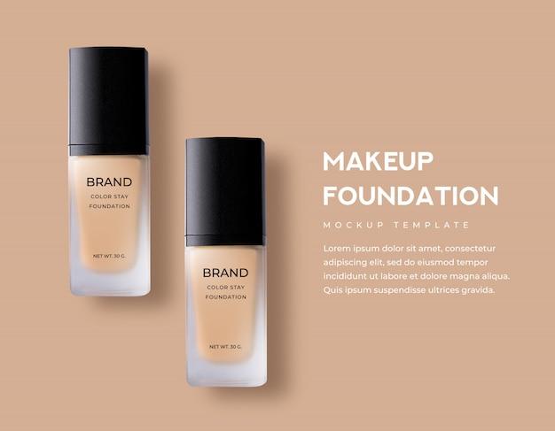 Cosmetici di bellezza per fondotinta liquido per trucco di colore opaco opaco in lussuose confezioni di vetro