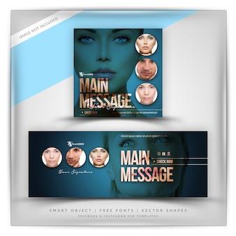 Cosmetici facebook e instagram banner