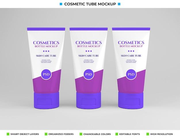 Cosmetisch buismodelontwerp in cosmetica-concept