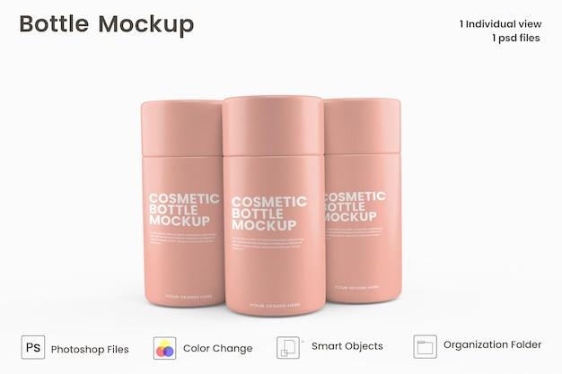 Cosmetisch flesmodel in schoonheidsconcept
