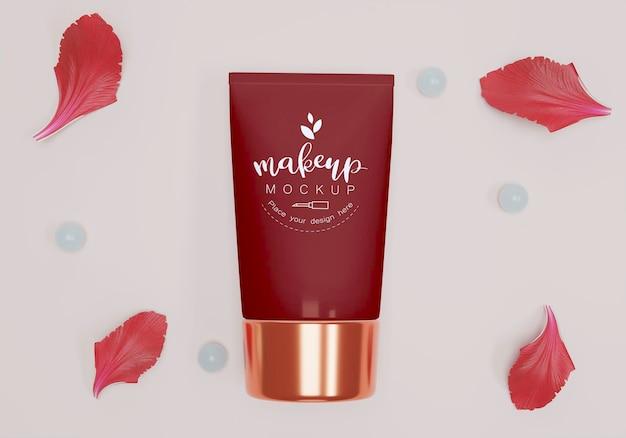 Cosmetisch product met bloemblaadjes