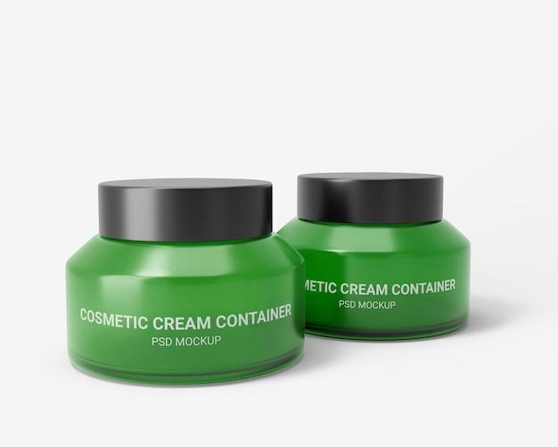 Cosmetische crème container mockup