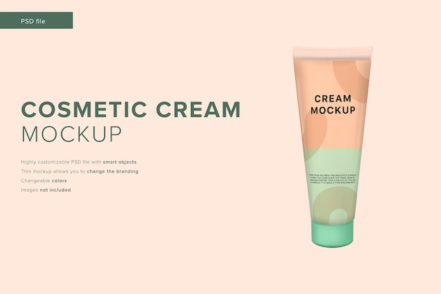 Cosmetische crème mockup in moderne designstijl