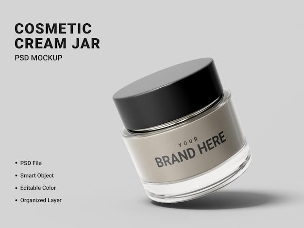 Cosmetische crème pot mockup ontwerp geïsoleerd