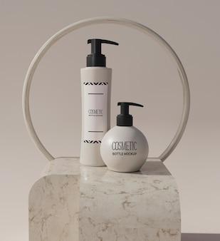 Cosmetische crème productverpakking fles mockup
