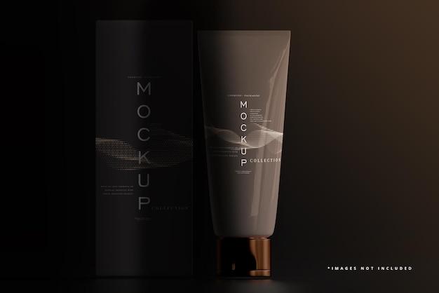 Cosmetische crème tube en doosmodel