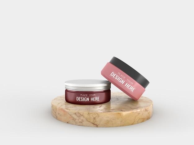 Cosmetische crèmecontainer mockup voor room