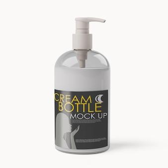 Cosmetische dispenser flessen mockup