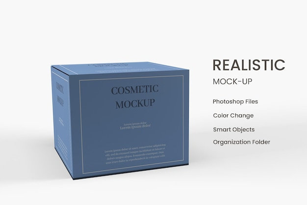 Cosmetische doos verpakking mockup-ontwerp