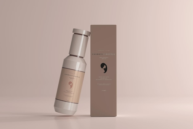 Cosmetische fles en doosmodel