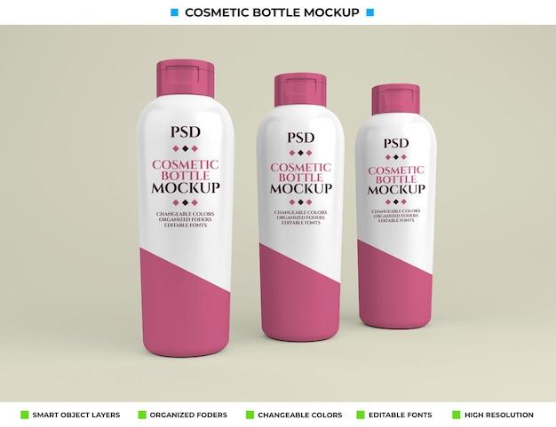 Cosmetische fles mockup in schoonheidsconcept