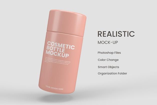 Cosmetische fles mockups ontwerp geïsoleerd