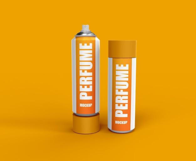 Cosmetische parfumsprayfles of cosmetische branding mockup