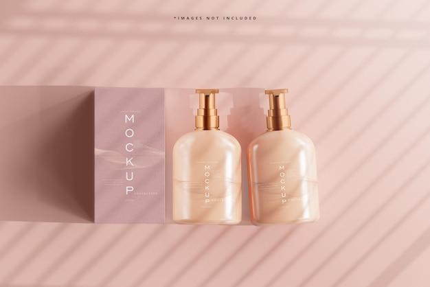 Cosmetische pompfles en doosmodel