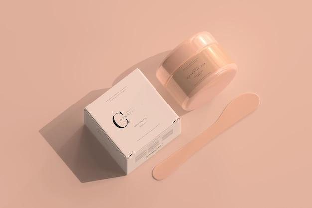 Cosmetische pot en doosmodel