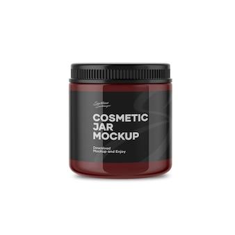 Cosmetische pot mockup