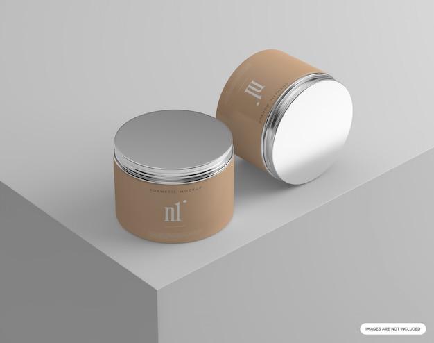 Cosmetische potten mockup