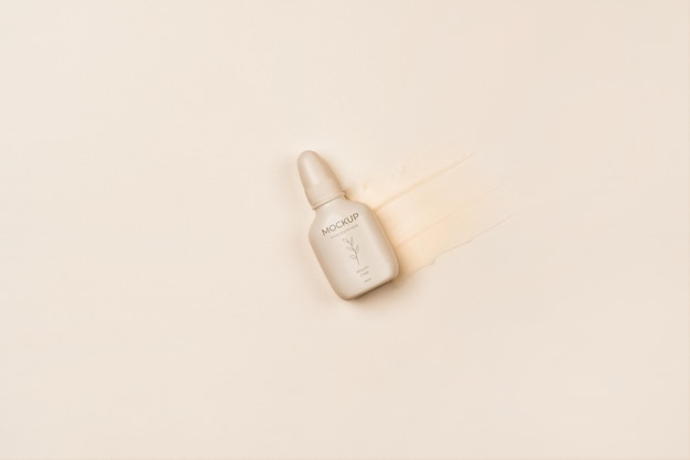 Cosmetische productverpakking bovenaanzicht