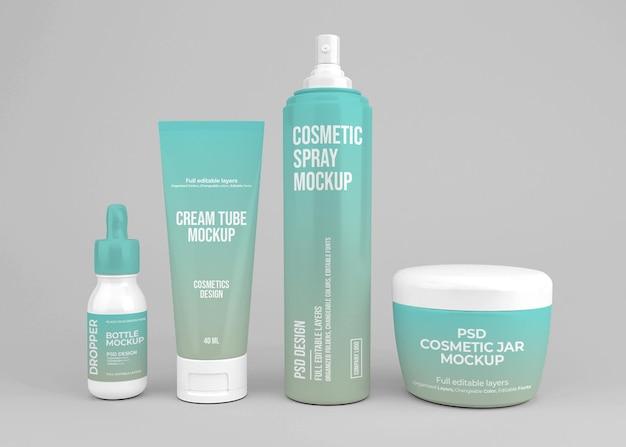 Cosmetische set mockup-ontwerp
