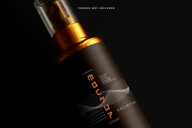 Cosmetische spray fles mockup