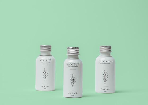 Cosmetische verpakking mock-up samenstelling