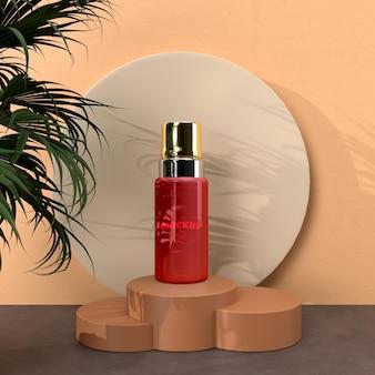 Cosmetische verpakking mockup voor merkontwerp