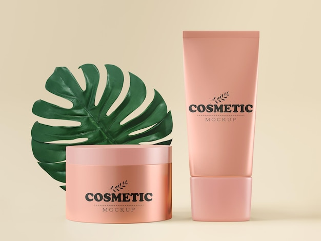 Cosmetische verpakking mockup
