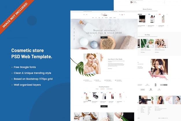 Cosmetische winkel websjabloon
