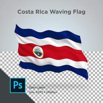 Costa rica vlag wave transparant psd