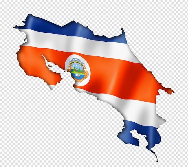 Costa ricaanse vlag kaart