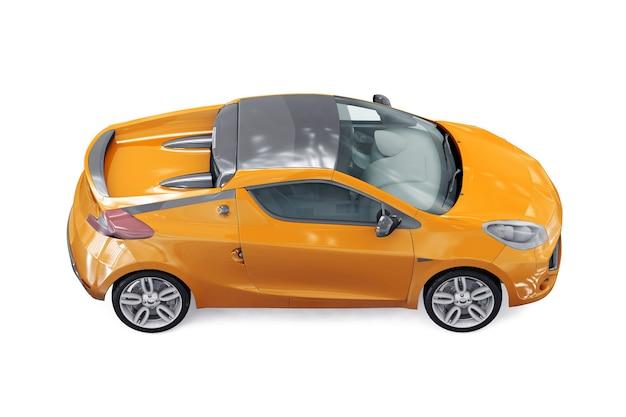 Coupé auto 2011 mockup