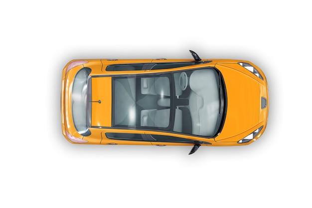 Coupé auto 2012 mockup