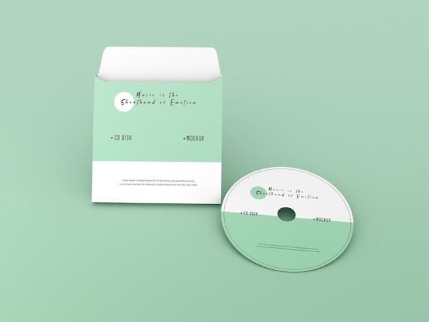 Cover en compact disc-mockup