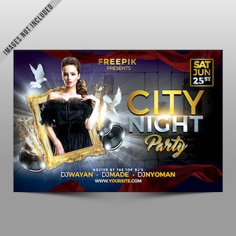Cover de fiesta de ciudad de noche