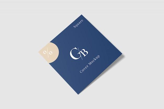 Cover square brochure mockup