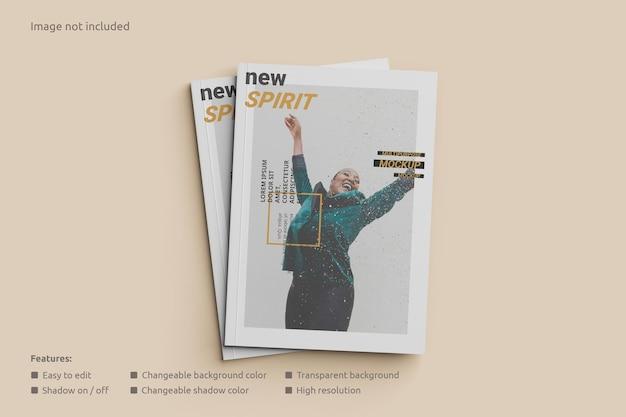 Cover tijdschrift mockup bovenaanzicht