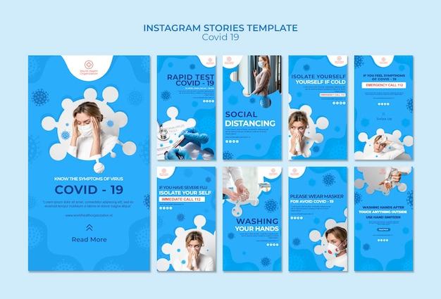 Covid-19 colección de historias de instagram
