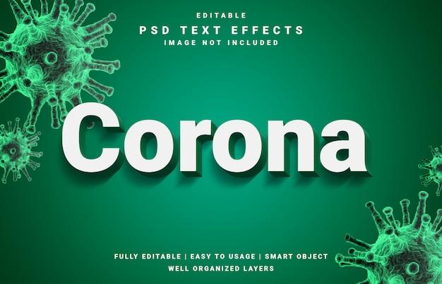 Covid-19 corona virus teksteffect