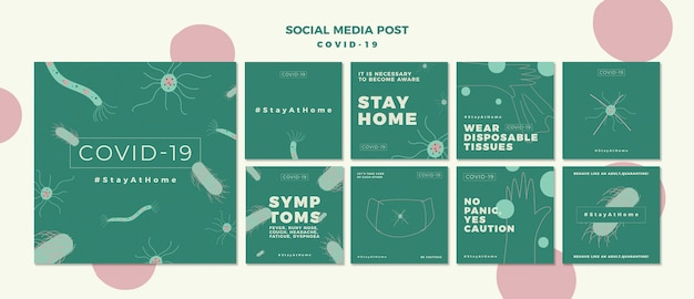 Covid-19 instagram post pack