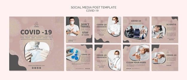 Covid-19 y máscara de publicación en redes sociales