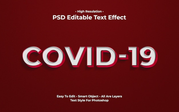 Covid-19 teksteffectsjabloon