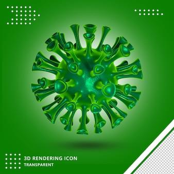 Covid virus 3d pictogram geïsoleerd