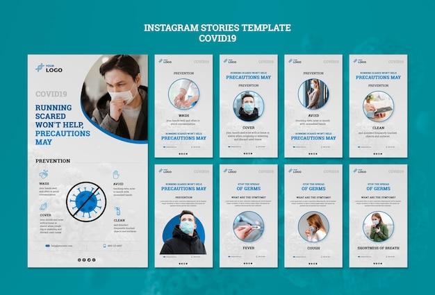 Covid19 plantilla de historias de instagram