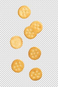 Cracker cookies vallen, knipsel.