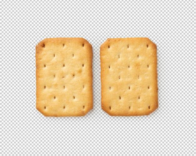 Crackerkoekjes, knipsel met schaduw.